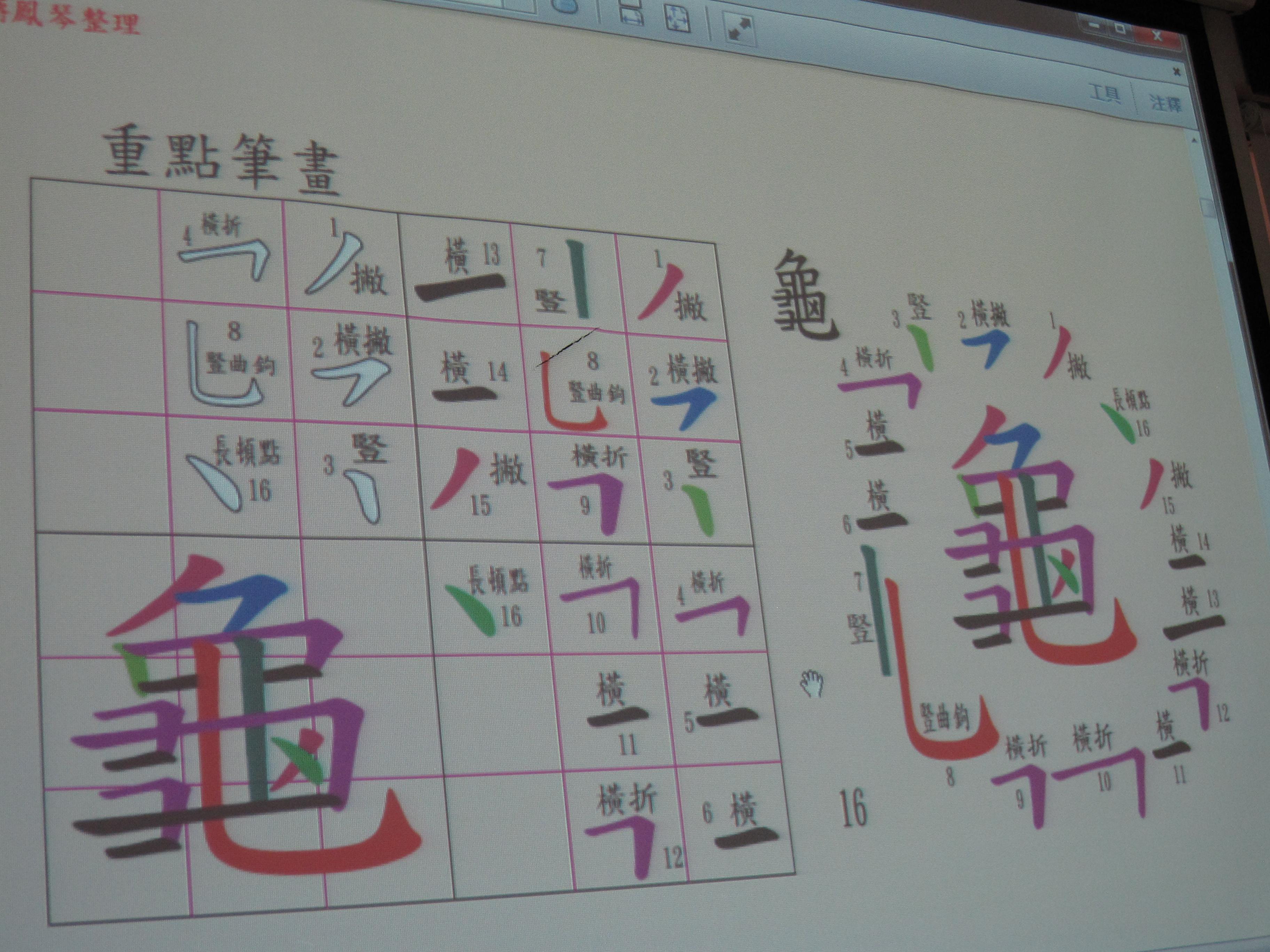 字音字形訓練資料